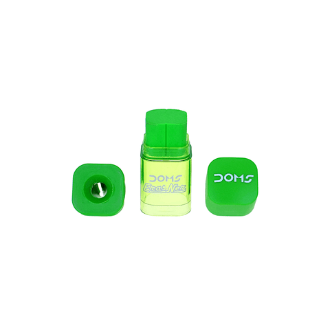 Doms 2 in 1 Eraser - Sharpener Assorted Colors