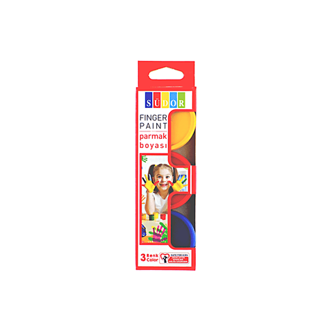 Sudor Finger Paint Set of 3 Jars Assorted Colors