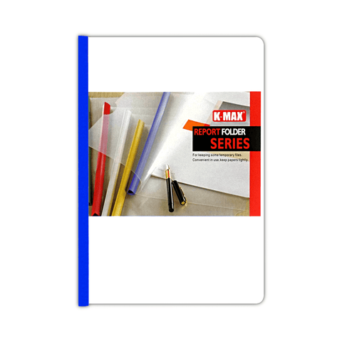 K-MAX Plastic Presentation File with Sliding Bar Clear A4