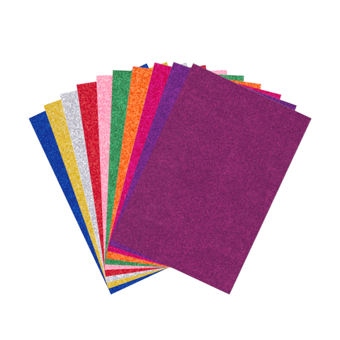 Ribra Eva Craft Glitter Foam A4 Sheets Pack of 10