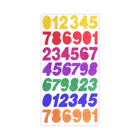 Deligao Glitter Foam Numbers Stickers Pack of 42