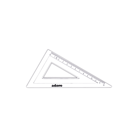 Adoro Plastic Triangle Ruler 60° Set Square 13 cm