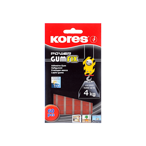 Kores Power Gum Fix Adhesive Pads Pack of 60