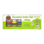 Keep Smiling Gouache Color Set of 6 Jars + Free Brush