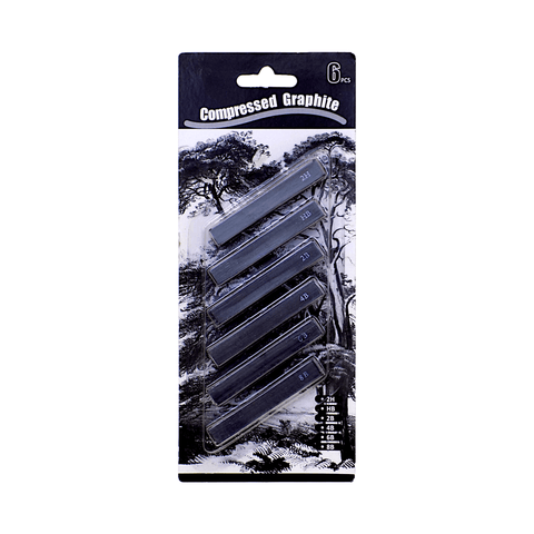 Generic Compressed Graphite Sticks Pack of 6