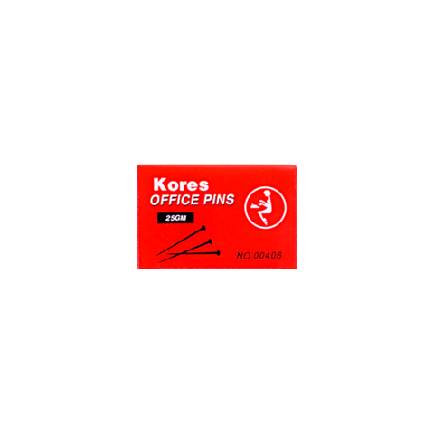 Kores Office Head Pin 26 mm Box of 25 gm Silver