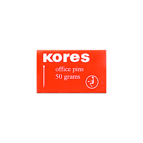Kores Office Head Pin 26 mm Box of 50 gm Silver
