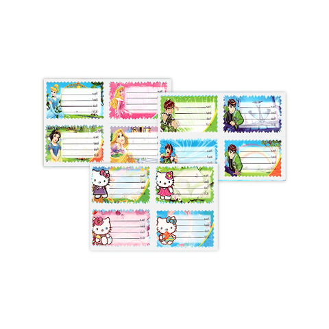 Generic Name Label Sticker Sheet of 4
