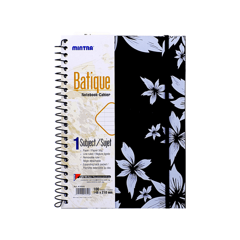 Mintra Batique Spiral Notebook 1 Subject 100 Sheets A5