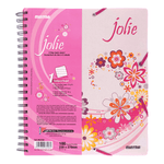 Mintra Jolie Spiral Notebook 1 Subject 100 Sheets Quarto