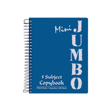 Mintra Jumbo Mini Spiral Notebook 5 Subjects 200 Sheets A5