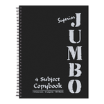 Mintra Jumbo Superior Spiral Notebook 4 Subjects 100 Sheets