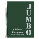 Mintra Jumbo Spiral Notebook 3 Subjects 120 Sheets A4