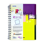 Mintra Vivid Spiral Notebook 2 Subjects 100 Sheets