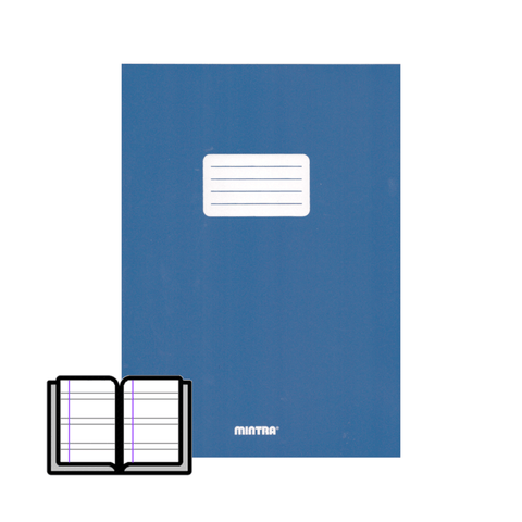 Mintra Stapled Double Line Notebook Waterproof Cover 40 Sheets