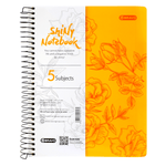 Sasco Bravo Shiny Spiral Notebook 5 Subjects 200 Sheets