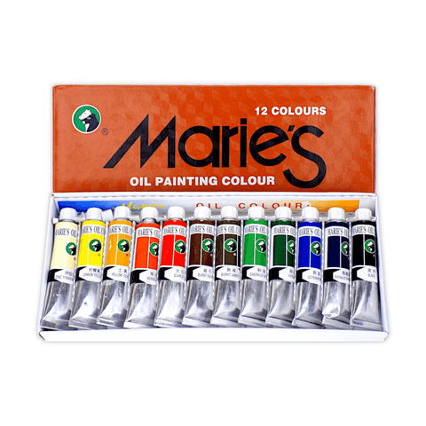 Marie's Oil Color Set of 12 x 12 ml Tubes