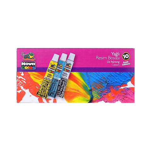 Nova Color Oil Painting Color Set of 10 x 7 ml Tubes