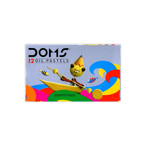 Doms Oil Pastel Colors Set of 12 + Free Scrapper