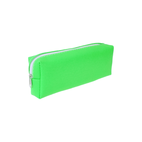 Generic Artificial Leather Zippered Pencil Case Neon Colors