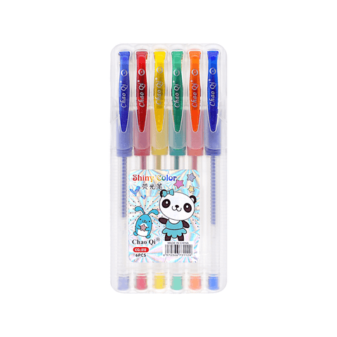 Chao Colored Glitter Gel Pen Set of 6
