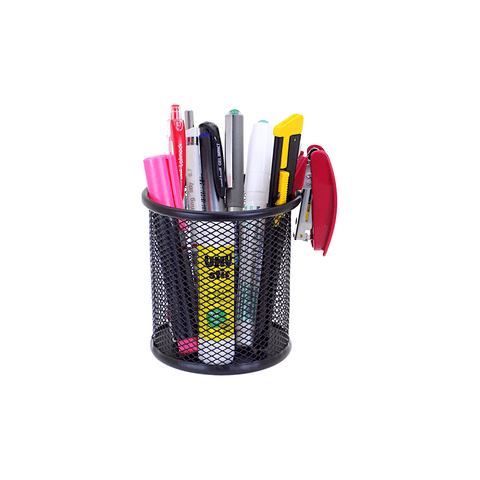 Primepack Round Mesh Steel Pen Holder
