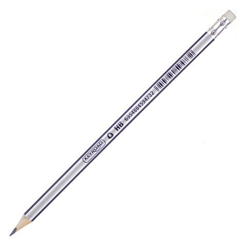 Keyroad Triangular Wooden Pencil with Eraser Tip