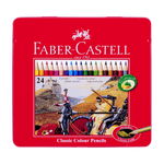 Faber-Castell Classic Colored Pencils Metal Tin of 24