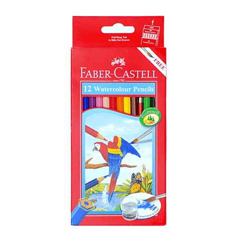 Faber-Castell Watercolor Eco Coloring Pencils Box of 12 + Free Brush