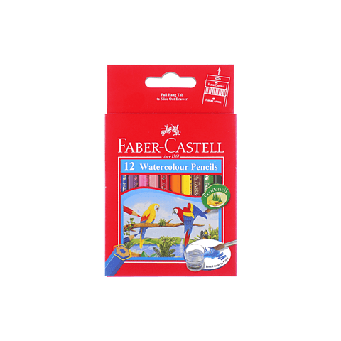 Faber-Castell Watercolor Eco Short Coloring Pencils Box of 12