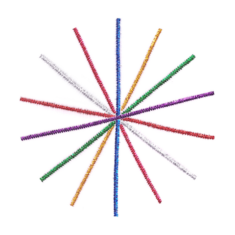 AG Glitter Craft Stems Pipe Cleaner Pack of 20