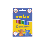 Molin Plastic Coloring Crayons Box of 12