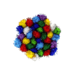 Art & Craft Colored Glitter Tinsel Sparkle Pompoms