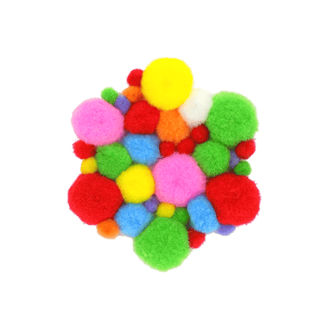 Deligao Acrylic Soft Colored Pompoms