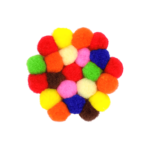 Generic Acrylic Soft Colored Pompoms
