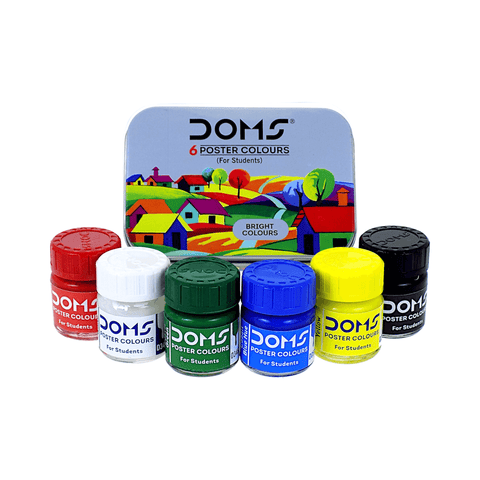 Doms Poster Color Set of 6 x 10 ml Bottles