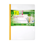 True Trend Light Plastic Presentation File with Sliding Bar Clear A4