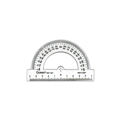 Queen Plastic Math Protractor Clear