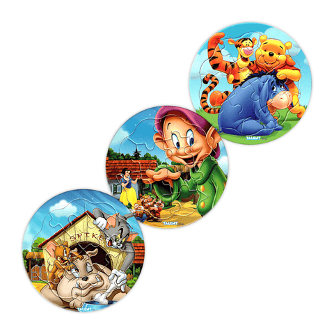 Talent Disney Characters Jigsaw Puzzle 12 Pcs