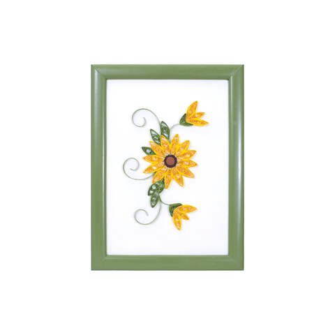 Crafty Paper Quilling Sunflower Framed Art