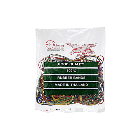 Etman Colored Rubber Bands Pack of 200