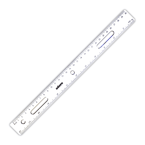 Adoro Transparent Light Plastic Ruler 30 cm