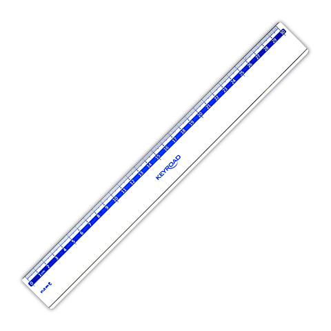 Keyroad Plastic Ruler Blue Scale 30 cm