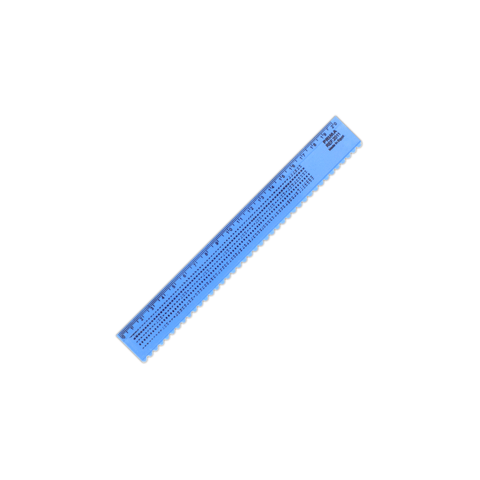 Prima Plastic Ruler Wave Edge 20 cm