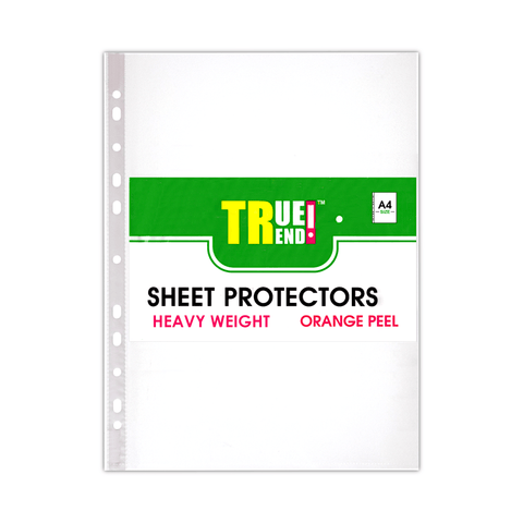 True Trend U-Shape Heavy Duty Sheet Protector Clear A4