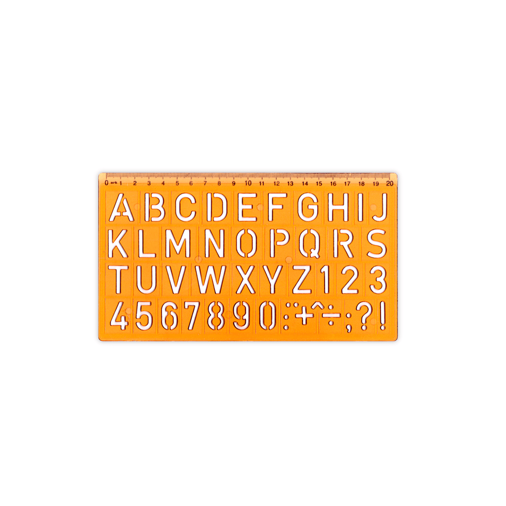 Ark Letters & Numbers Stencil - Bayan eShop