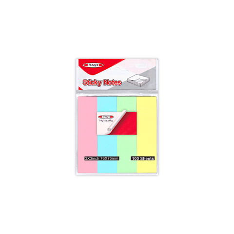 Today's Sticky Notes Flags Set of 4 Colors