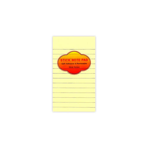 "Kaiwen Lined Sticky Note Pad 3"" x  5"" 100 Sheets"