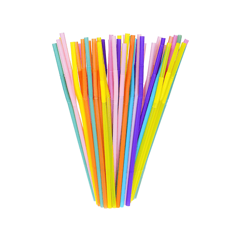 Generic Craft Colorful Plastic Straws Pack of 25