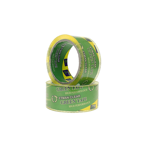Green Heavy Duty Clear Adhesive Packing Tape 46 mm